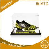 Rectángulo de zapato de acrílico claro a estrenar de la zapatilla de deporte