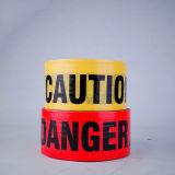 Высокое качество желтого цвета PE сигнал предупреждения ленты ленты осторожно ленту