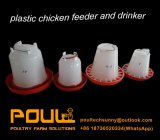 Buveur et câble d'alimentation en plastique de poulet sur la vente