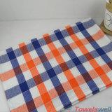 Полотенце тарелки кухни хлопка Checkered
