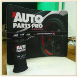Portable Oval Promoción Contador / Display Sign Banner Stand