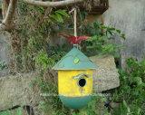 옥외 거는 시골풍 정원 금속 새 집