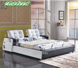 A088 Novo Modelo de quarto de cama Musical mobiliário com luz de LED