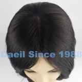 Toupee cinese dei capelli delle donne nel colore naturale