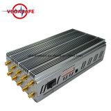 VHF ajustável de energia, Sinal de GPS Móvel WiFi VHF Breaker, 10 Mão Antena Lojack/WiFi/4G/GPS/VHF/UHF Jammer, sinal de telefone móvel Jammer/ /Disjuntor Isolador