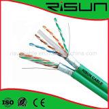 El precio de fábrica 0.56 milímetros descubre el cable de cobre de la red del ftp CAT6