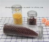 Korn-Sammelbehälter-Glasbehälter des freies Beispiel3pcs mit gedichteter Kappe für Küchenbedarf
