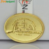 Il metallo placcato dell'oro mette in mostra le medaglie di Aword con il nastro