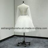 Короткая Bridal мантия с длинним платьем венчания замужества втулки