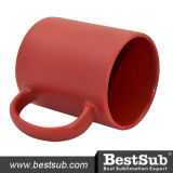 B11c-Fr Bestsub Sublimation 11oz Full Color Mug (Frosted, Red)