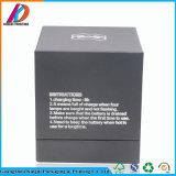 Les produits électroniques emballages en papier noir boîte avec l'argent l'estampage