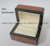 Caja de madera sólida de la laca brillante Caja de embalaje elegante de la joyería