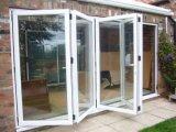 Porta de dobradura de vidro de oito painéis para a venda