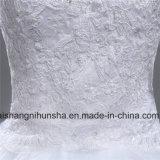 Vestito da cerimonia nuziale in rilievo di cristallo di modo per l'innamorato convenzionale delle spose