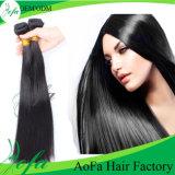 Armure péruvienne de cheveu droit de vente en gros de cheveux humains de 100%