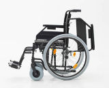 Manuale d'acciaio, pieghevole, sedia a rotelle, comoda (YJ-023I)