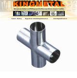 SS304/0Cr18Ni9, SS316/0Cr17Ni12mo2 4 vias em aço inoxidável de Montagem do Tubo Transversal