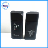 トナー130mlのための工場によってカスタマイズされる装飾的な包装の正方形の黒いガラスビン