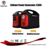 Centrale électrique solaire portative de batterie au lithium de générateur de système solaire