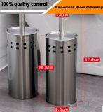 Suporte de escova do toalete do banheiro do aço inoxidável com furos quadrados