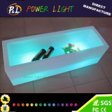 Rechargeable Light Up Lounge Furniture Square LED Wine Box