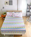 인쇄된 면 침대 시트 세트