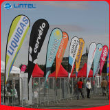 La sublimation imprimé drapeau Portable pôle beach flags (LT-17C)