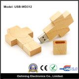Azionamento di legno di memoria del USB di figura trasversale (USB - WD312)