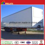 Ladung, die Tri-Welle Aluminiumkasten-Karosserien-LKW-Schlussteil transportiert