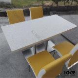 Mesa de centro cuadrada de piedra artificial de los muebles negros