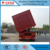 3 volquete del árbol 60t/del descargador acoplado laterales resistentes semi para el transporte de carbón de la arena