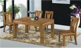 ゴム製木のレトロ様式の純木の食堂テーブル