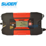 Suoer 12V 6um rápido Automático Inteligente Carro carregador da bateria solar com marcação (DC-W1206A)