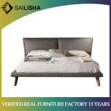 Nordic cama em pele genuína programável simples de móveis domésticos venda quente quarto conjunto de móveis
