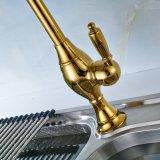 Zet het Gouden het Schilderen van Flg Dek de Tapkraan van de Gootsteen van de Keuken op