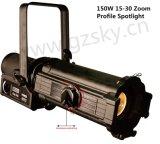 150W LED de luz zoom perfil elipsoidal de luz para iluminación teatral Leko