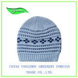 2017新しいデザイン刺繍の冬のニットの帽子
