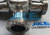 Valvola a rubinetto a tre vie sanitaria di Bsm dell'acciaio inossidabile (ACE-XSF-3F)