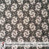 Tela de nylon preta macia do laço para a roupa (M5249)