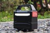 Banco de acampamento da potência solar de jogo de ferramenta com luz do diodo emissor de luz