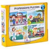 4 in den 1 Bookid Beruf-Kind-Puzzlespielen