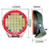 Lámpara auto caliente LED de 185W 9inch IP68 que conduce la luz de trabajo para el jeep