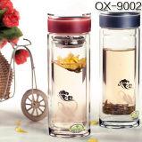 10oz Fles van het Water van het Glas van de Kop van het Glas van het Glas van 300ml de Rechte Kop Aangepaste