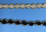 装飾のための普及したかぎ針編みのレースのフリンジ