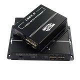 USB3.0 Extender sobre fibra hasta 300m Built-in de 7 puertos USB Hub para la transmisión Uhd (HFE-3900)