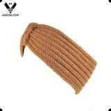 Headband do inverno de Contínuo Brown Grosso Confeção de malhas da senhora