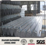Sch40 tubo de la INMERSIÓN caliente Galvanized/Gi/tubo galvanizado roscado tornillo