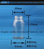 Бутылка хранения зерна и еды с крышкой пробочки доказательства утечки