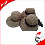 Chapéu da promoção do chapéu de Sun do chapéu de palha do chapéu da forma do chapéu do Fedora