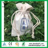 Impresión personalizada del logotipo pequeña mini bolsa de lona con cremallera